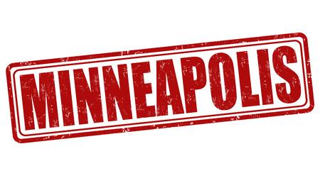 Minneapolis grunge rubber stamp on white background, vector illustration Vector