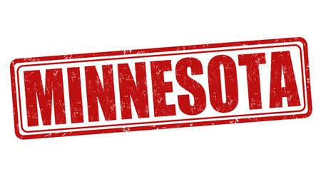 Minnesota grunge rubber stamp on white background, vector illustration Vector