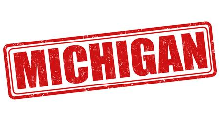 Michigan grunge rubber stamp on white background, vector illustration Vector