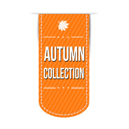 Autumn collection banner design over a white background, vector illustration Vector