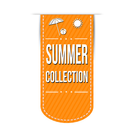 Summer collection banner design over a white background, vector illustration Vector