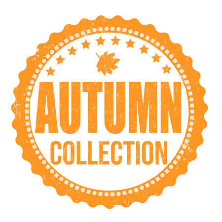Autumn collection grunge rubber stamp on white background, vector illustration Vector