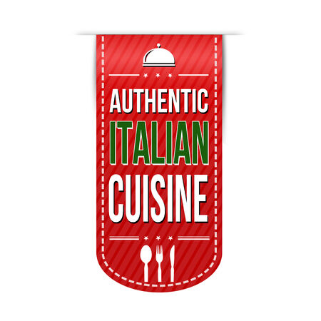 Authentic italian cuisine banner design over a white background, vector illustration 向量圖像
