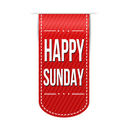 red ribbon week: Happy sunday banner design over a white background, vector illustration