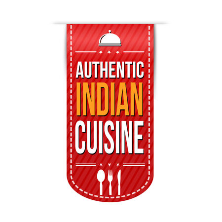 Authentic indian cuisine banner design over a white background, vector illustration Vector