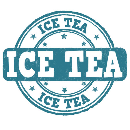 ice tea: Ice tea grunge rubber stamp on white background, vector illustration