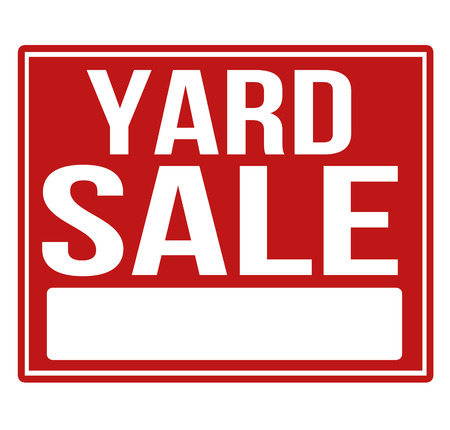 Yard sale red sign with copy space isolated on a white background, vector illustration Vector