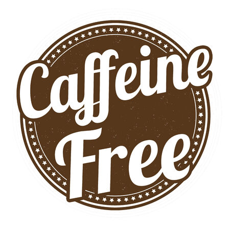 caffeine free: Caffeine free grunge rubber stamp on white background, vector illustration
