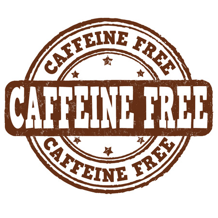 Caffeine free grunge rubber stamp on white background, vector illustration Vector