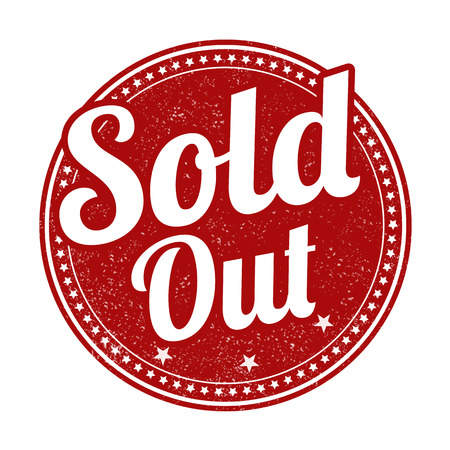Sold out grunge rubber stamp on white background, vector illustration