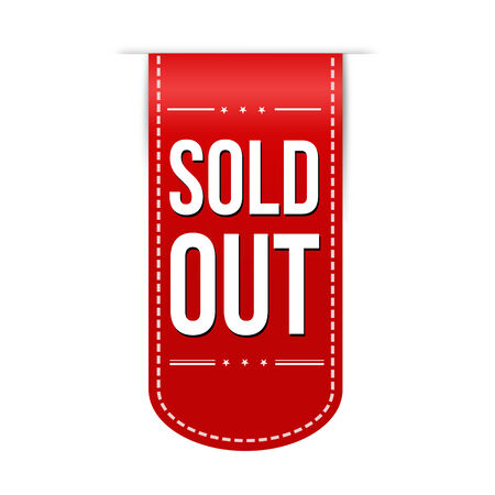sold out: Sold out banner design over a white background, vector illustration