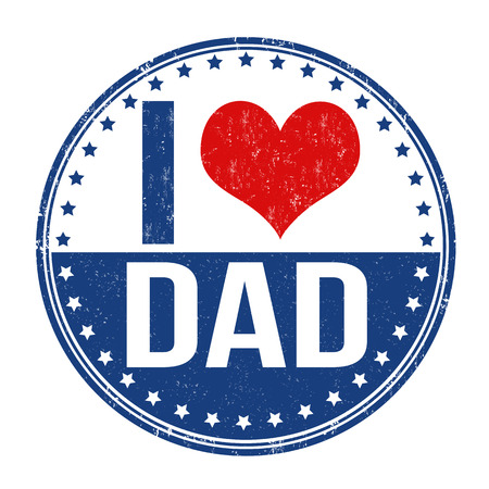 I love dad grunge rubber stamp on white background, vector illustration Vector