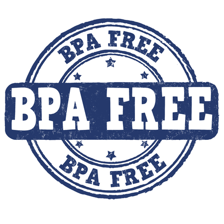 BPA Bisphenol-A free grunge rubber stamp on white background