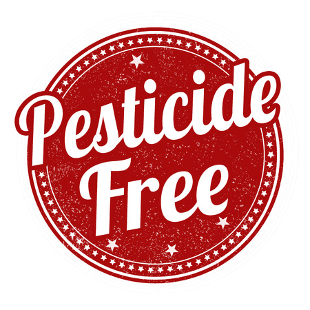 pesticide free: Pesticide free grunge rubber stamp on white background