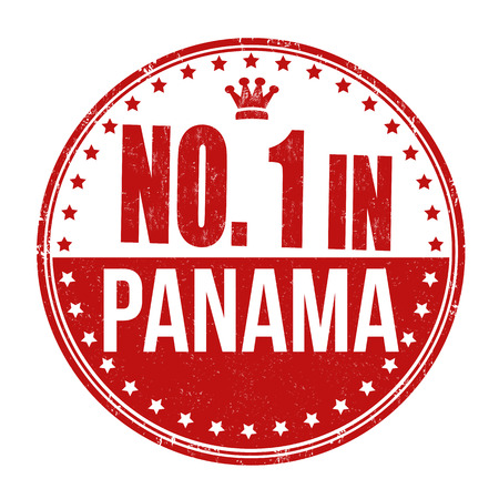 Number one in Panama grunge rubber stamp on white background, vector illustration Vector