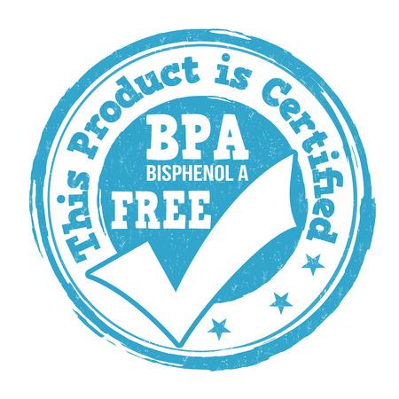 BPA Bisphenol-A free grunge rubber stamp on white background, vector illustration