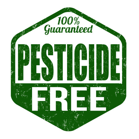 Pesticide free grunge rubber stamp on white background, vector illustration