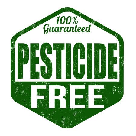 Pesticide free grunge rubber stamp on white background, vector illustration Vector