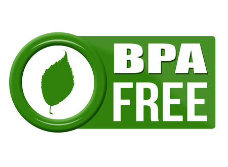 poison symbol: BPA free button on white background, vector illustration