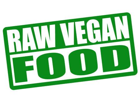 rindfleisch roh: Raw vegan Grunge-Stempel auf wei�em Hintergrund, Vektor-Illustration