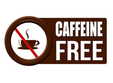 caffeine free: Caffeine free button on white background, vector illustration Illustration