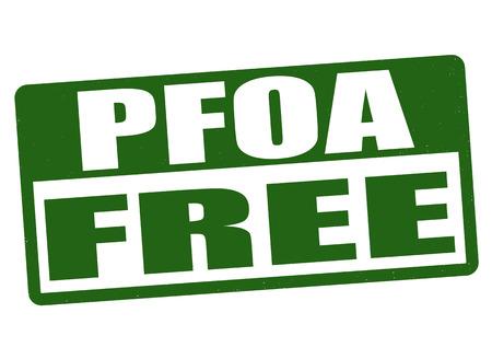 food poison: PFOA free grunge rubber stamp on white background, vector illustration