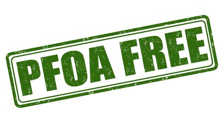nontoxic: PFOA free grunge rubber stamp on white background, vector illustration