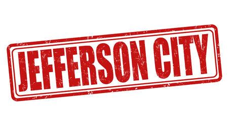 jefferson: Jefferson City grunge rubber stamp on white background, vector illustration