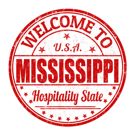 Welcome to Mississippi grunge rubber stamp on white background, vector illustration Vector