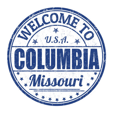 Welcome to Columbia grunge rubber stamp on white background, vector illustration
