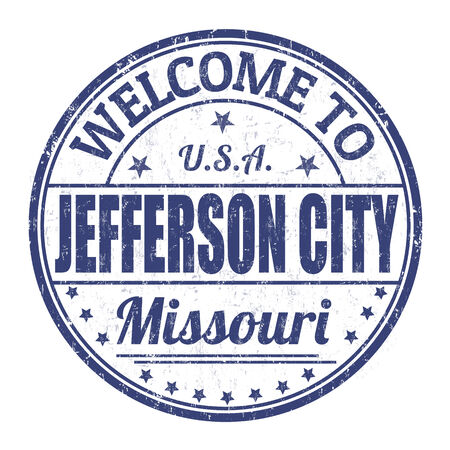 jefferson: Welcome to Jefferson City grunge rubber stamp on white background, vector illustration