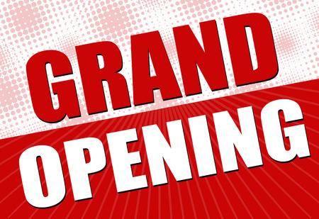 feestelijke opening: Grand Opening, vector illustratie