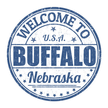 visit us: Welcome to Buffalo grunge rubber stamp on white background, vector illustration