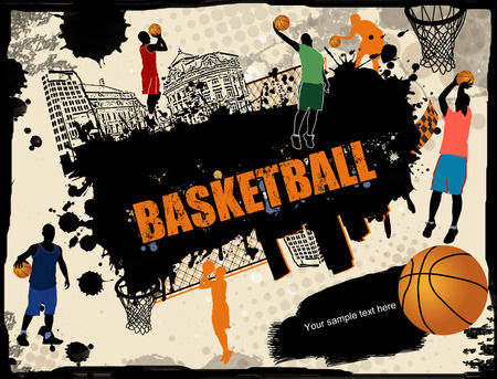desgn: Urban basketball grunge background, vector illustration