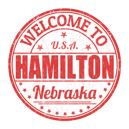 hamilton: Welcome to Hamilton grunge rubber stamp on white background, vector illustration Illustration
