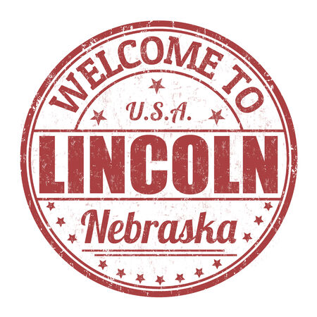 lincoln: Welcome to Lincoln grunge rubber stamp on white background, vector illustration Illustration