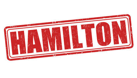 hamilton: Hamilton grunge rubber stamp on white background, vector illustration