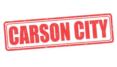 carson city: Carson City grunge rubber stamp on white background, vector illustration Illustration