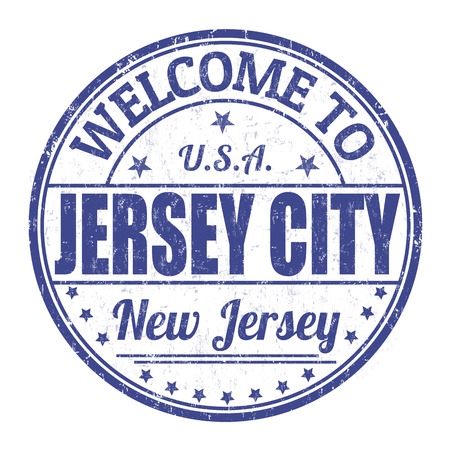 jersey city: Welcome to Jersey City grunge rubber stamp on white background, vector illustration