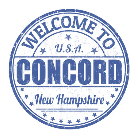 best travel destinations: Welcome to Concord grunge rubber stamp on white background, vector illustration