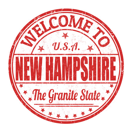 visit us: Welcome to New Hampshire grunge rubber stamp on white background, vector illustration