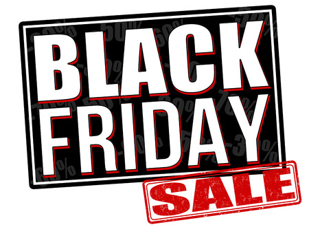 Black friday on white, vector illustration Vector