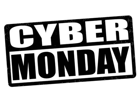 Cyber Monday grunge rubber stamp on white background, vector illustration Vector