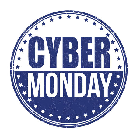 old pc: Cyber Monday grunge rubber stamp on white background, vector illustration