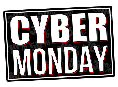 Cyber Monday grunge rubber stamp on white background, vector illustration