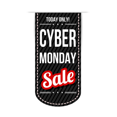Cyber Monday banner design over a white background, vector illustration Illustration