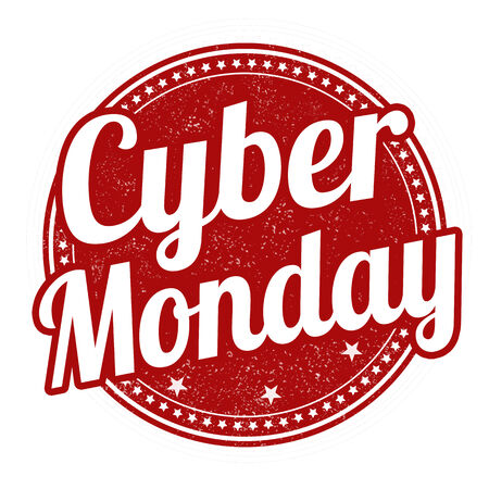 monday: Cyber Monday grunge rubber stamp on white background, vector illustration