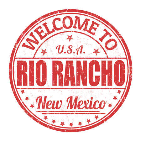 visit us: Welcome to Rio Rancho grunge rubber stamp on white background
