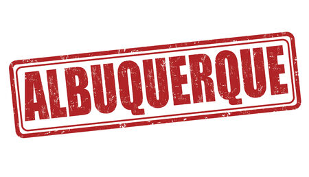 albuquerque: Albuquerque grunge rubber stamp on white background