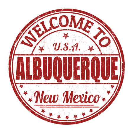 Welcome to Albuquerque grunge rubber stamp on white background Vector